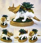 Triceratops Planter Centerpiece