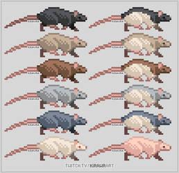 Pixel Rats: Natural Colors by KiRAWRa