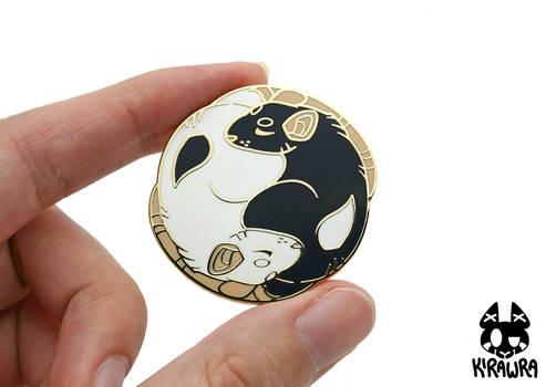 Yin Yang Rats Enamel Pin