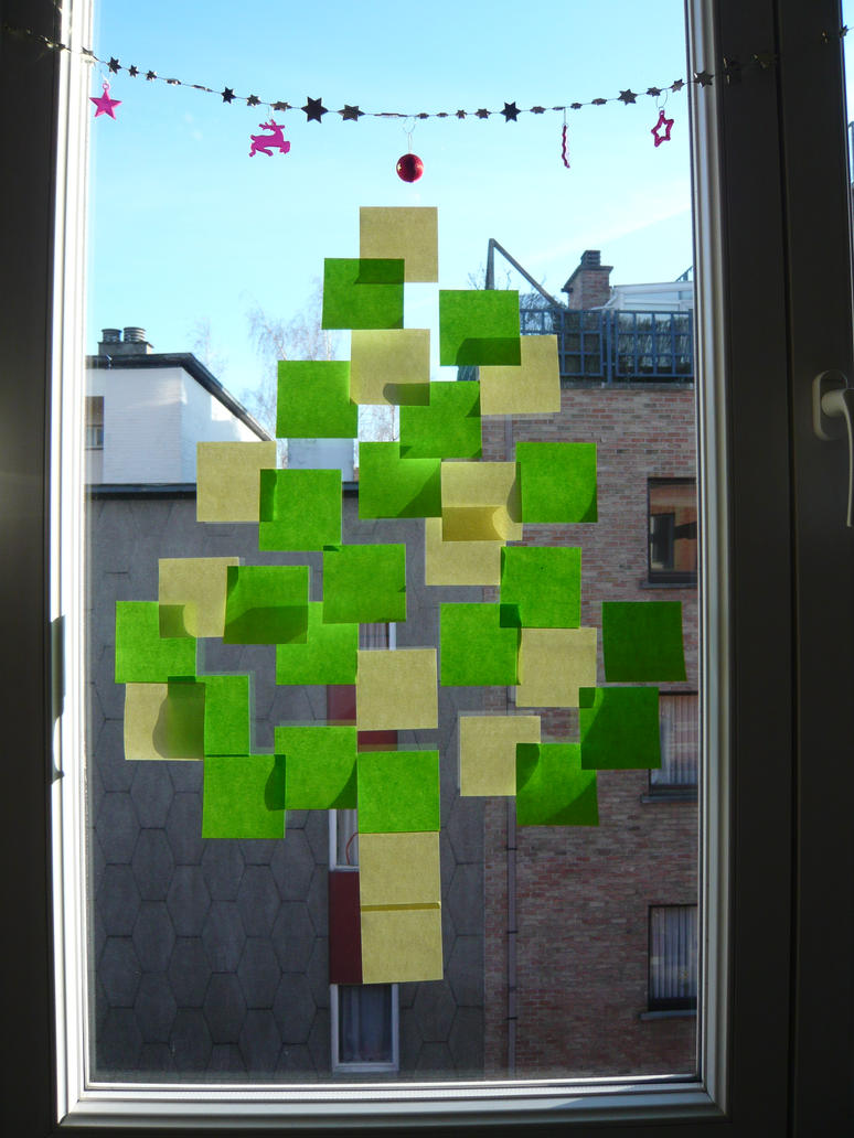 Post it christmas tree by oussika on deviantart