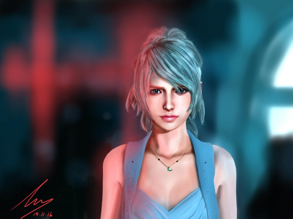 Luna Final Fantasy Xv Painting By Buttdriller