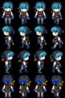 RPG Maker Sprite:Jade (Streamside) by BlueandDark
