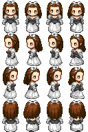 RPG Maker Sprite:Girl 3 by BlueandDark