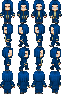 RPG Maker Sprite: Colt Noir by BlueandDark