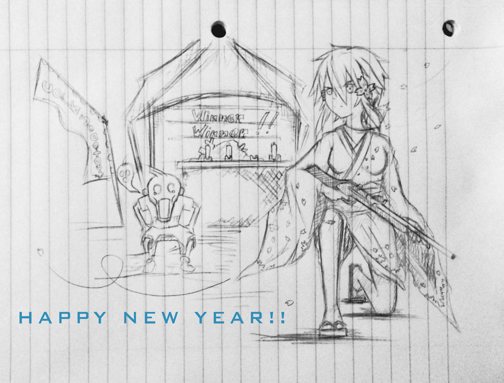 Sinon happy new year by TinSeven
