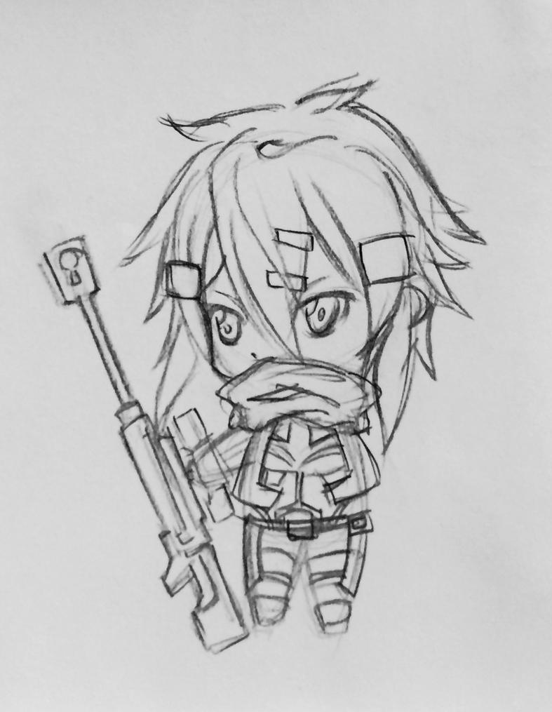 More Sinon Chibi by TinSeven