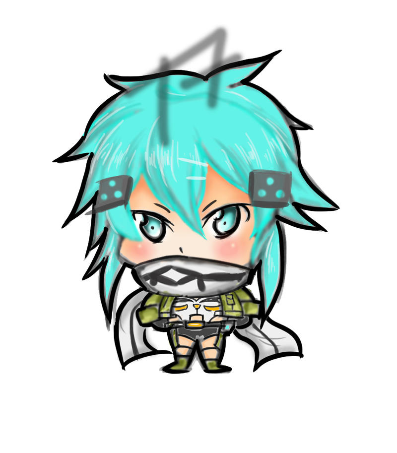 more more Sinon chibi ++color!! by TinSeven