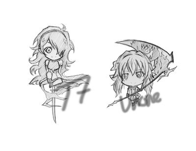 Seraph no end chibi wip by TinSeven