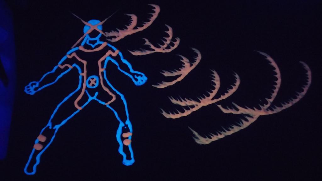 Cyclops Blacklight/Glow In The Dark Paint 1 by ProzacMan