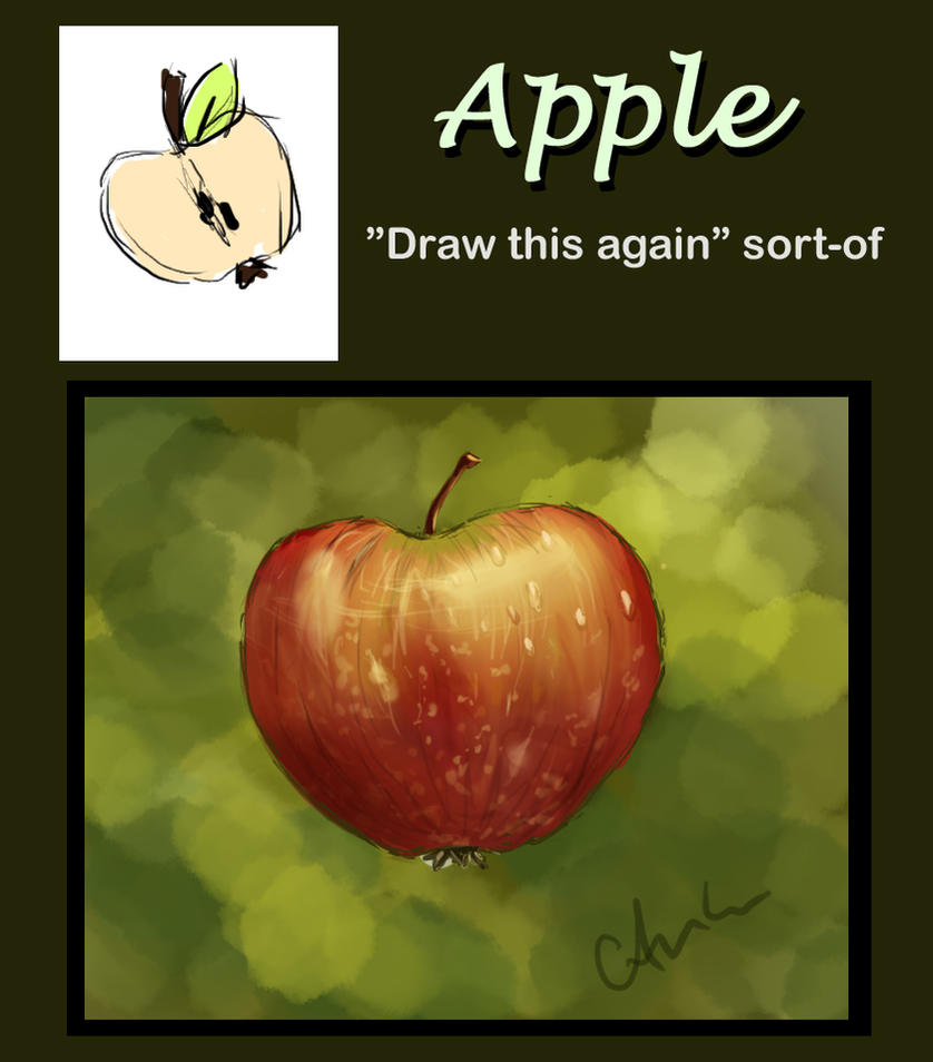 apple draw this again by gusam
