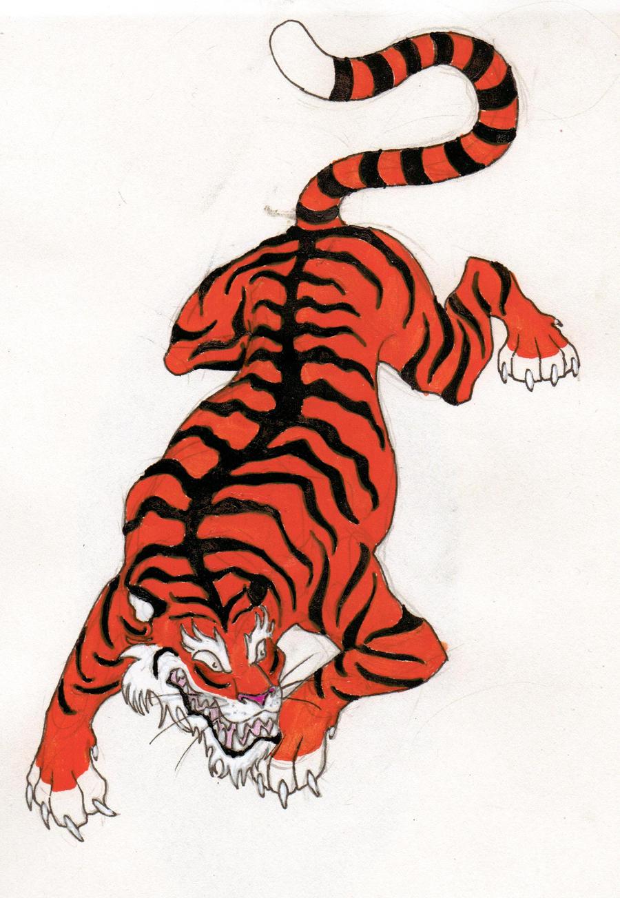 chinese tiger tattoo by bluehorizon89 on deviantart
