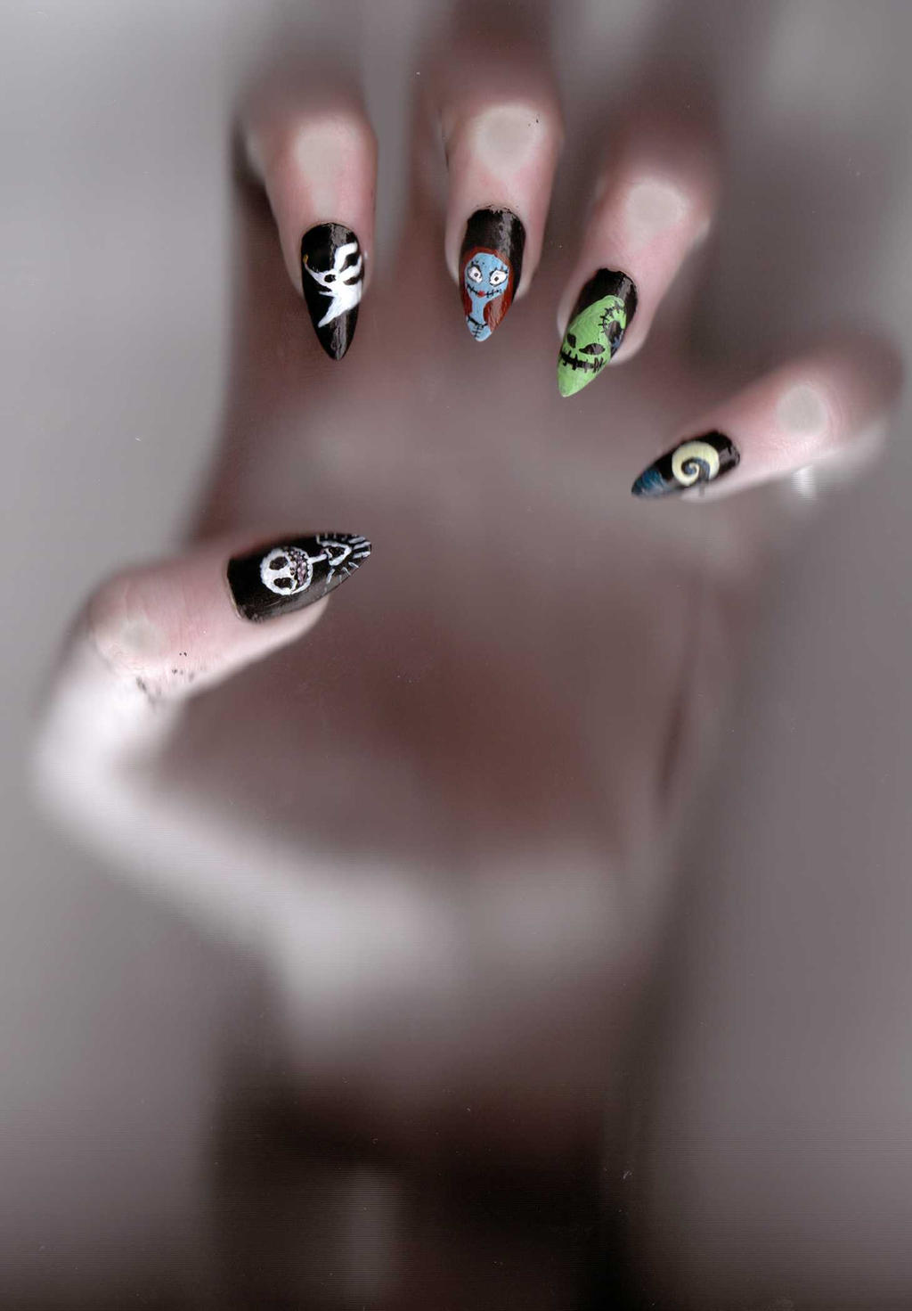The Nightmare Before Christmas Nail Art by BlueHorizon89 on DeviantArt