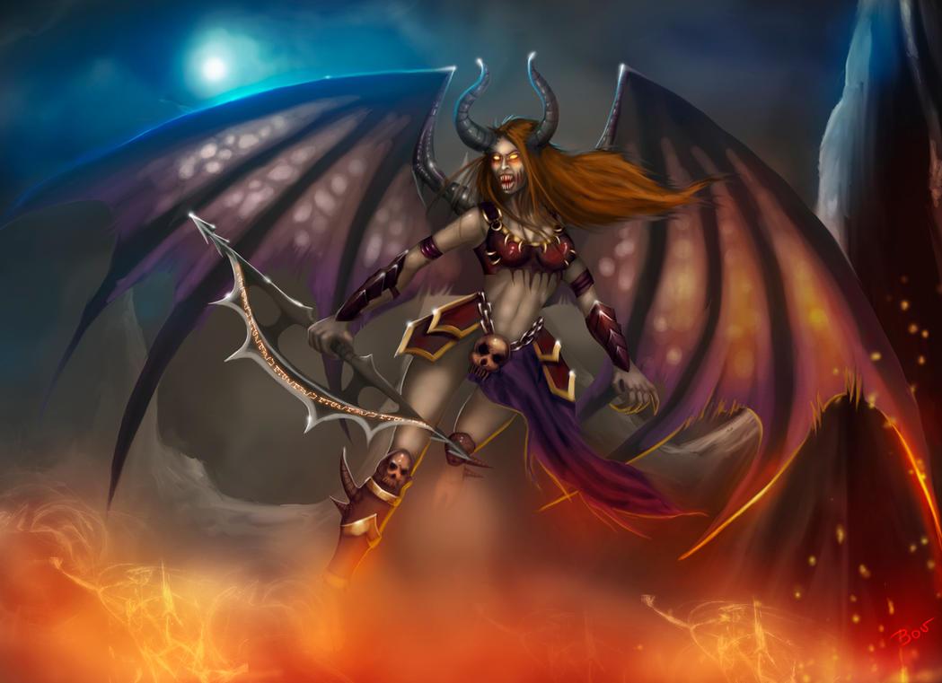 Demon female monsters cartoon pic