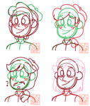 Planet Butterfly Hair Drafts #1