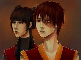 Zuko and Mei by SkyFreim