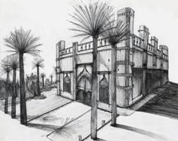 Edificio con palmeras by Alexia-Aikawa