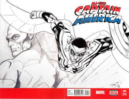 All New Captain America #1 Sketch Cover (inked)