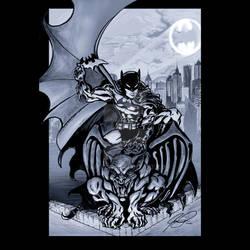Batman over Gotham -grey