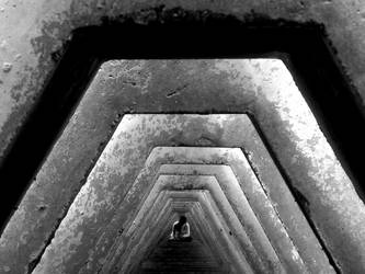 b and w tunnel by onewingstudios