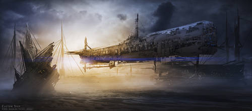 Custom Ship by elreviae