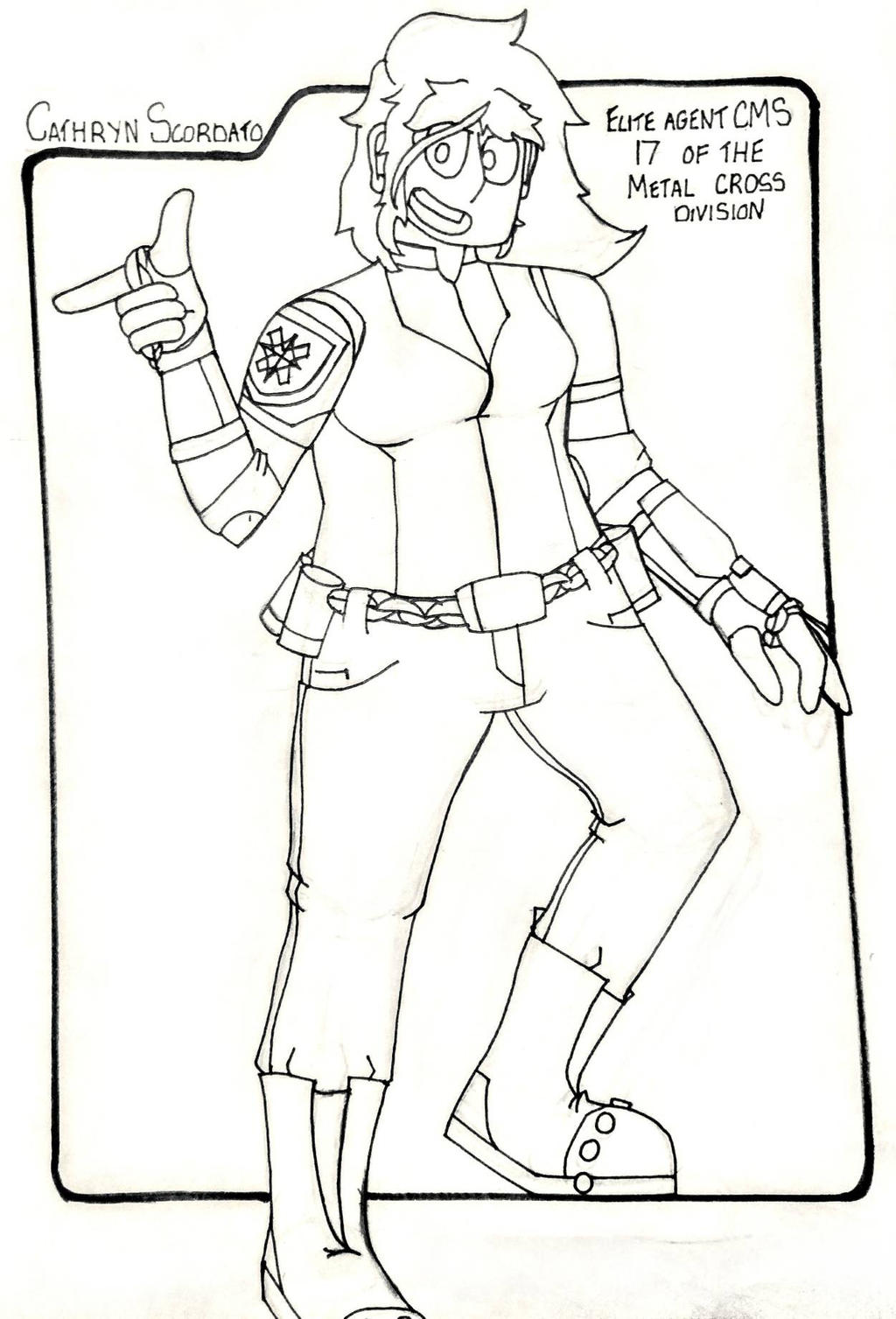 Cathryn Scordato [OC Reference] - Uncolored