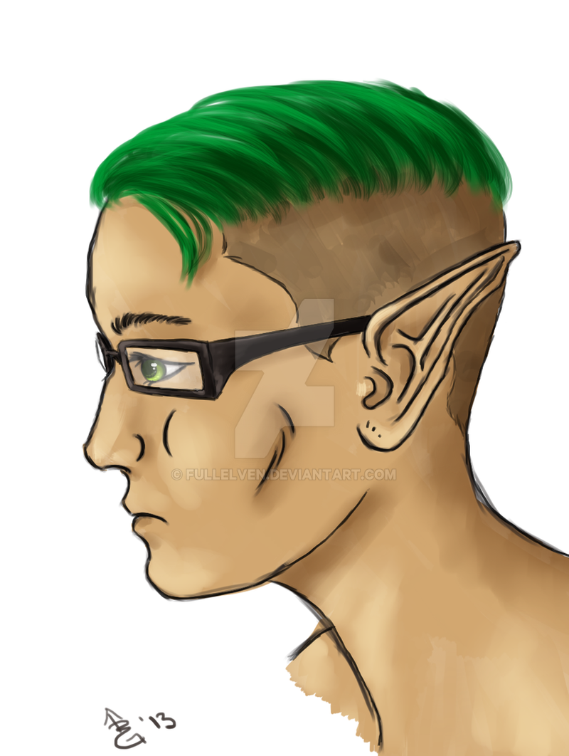 Self-Portrait with Elf Ears by FullElven