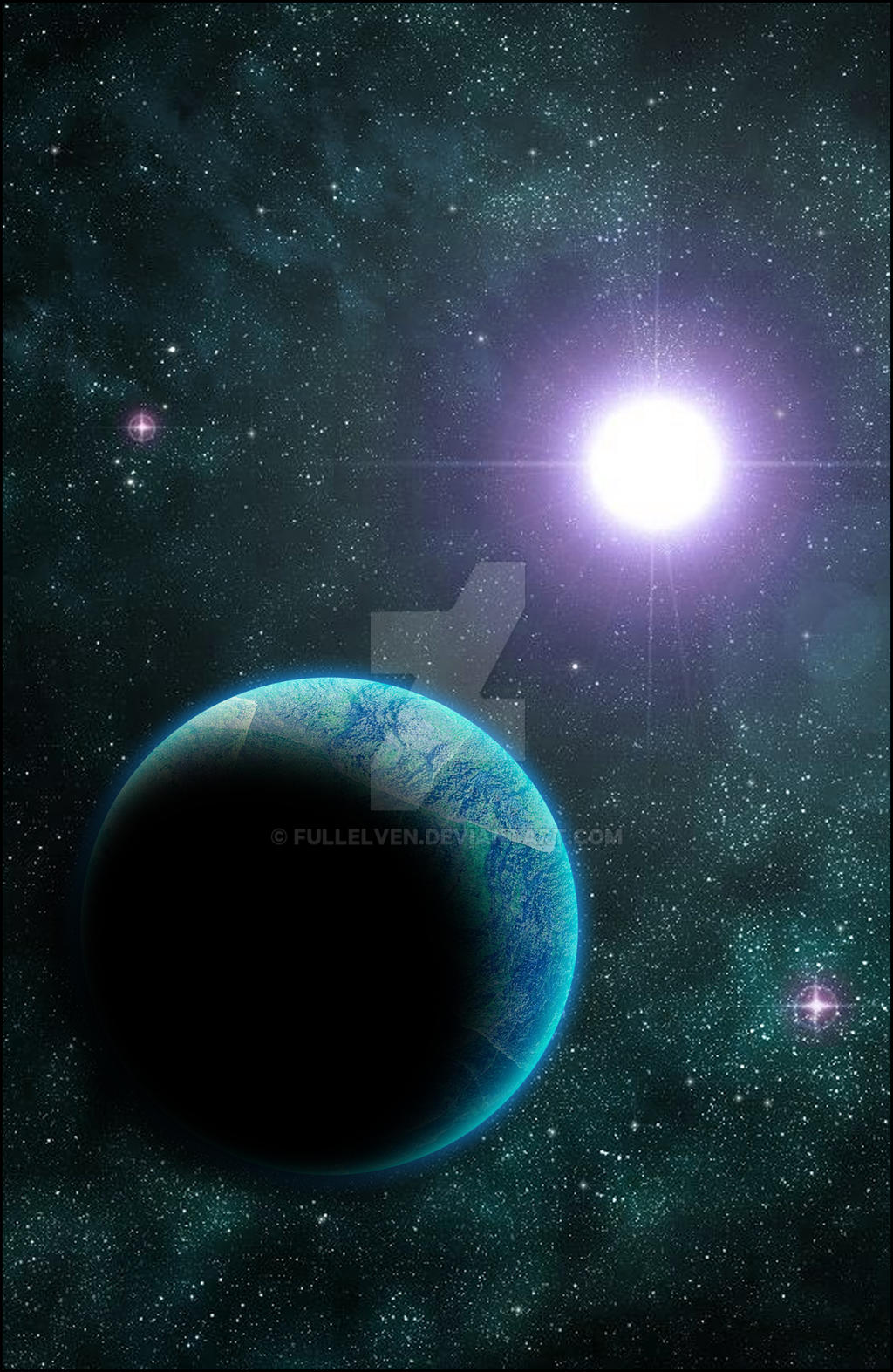 OC: The Titan's Planet by FullElven