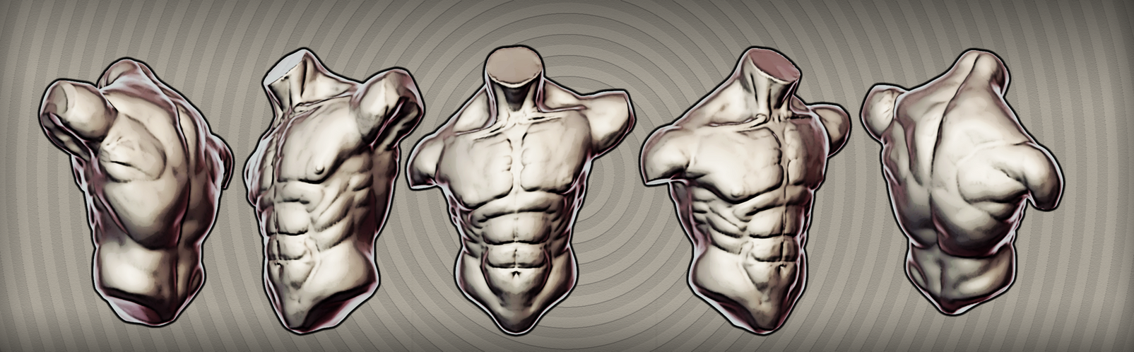 Male Anatomy Study by fumanshooh on DeviantArt