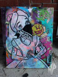 Alice Graffiti girl by deadwitchy
