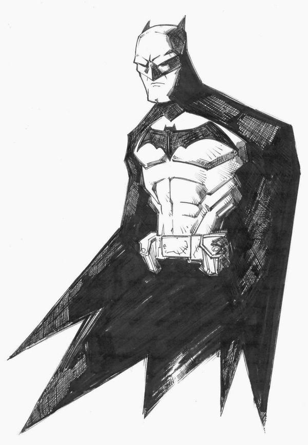 sketchy : Batman by KidNotorious