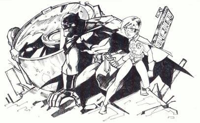 sketchy : Dark Knight by KidNotorious