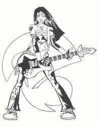 Rock Star Wonder Woman by KidNotorious