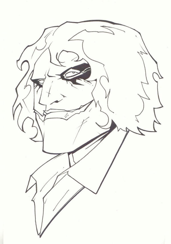 sketchy : Dark Knight Joker by KidNotorious