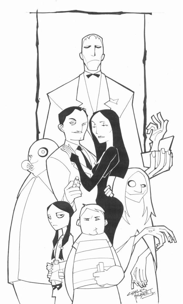Sketchy The Addams Family By KidNotorious On DeviantArt