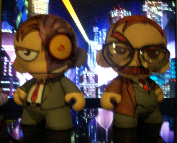 Two-Face and Gordon Munny by KidNotorious