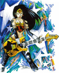 Marker: Rock Star Wonder Woman by KidNotorious
