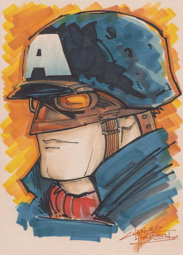 Marker : WWII Captain America by KidNotorious