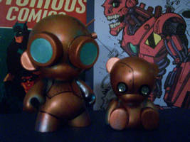 Munny Rusty and Patch by KidNotorious