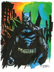 Watercolor Dark Knight