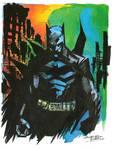 Watercolor Dark Knight