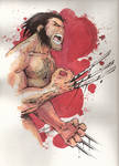 Watercolor Wolverine