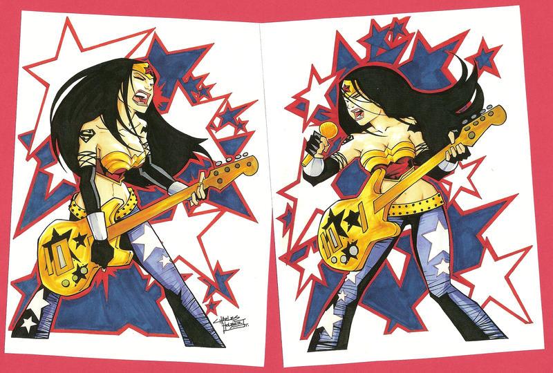marker: Rock Star Wonder Women by KidNotorious