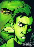 Incredible Hulk sketch card