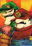 Mario Bros. sketch card