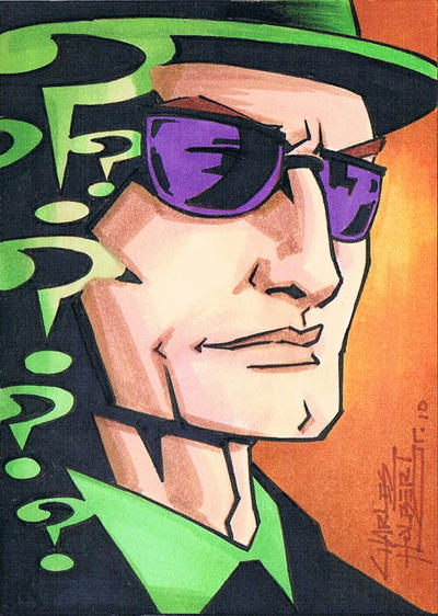 The Riddler sketch card by KidNotorious