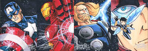 Avengers Sketch Cards Assemble by KidNotorious