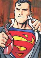 Superman sketch card by KidNotorious