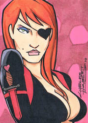 Molotov Coqtiz sketch card by KidNotorious
