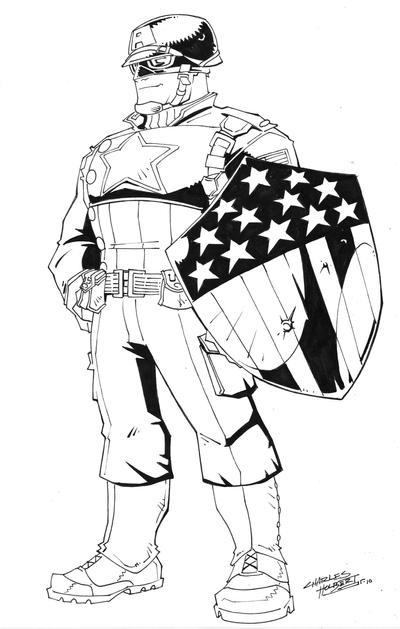 Line Art Photo Cs : Wwii captain america cs by kidnotorious on deviantart
