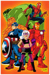 Marvel Heroes and Hawt Girl